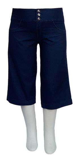 Bermuda Jeans Feminina Pantacur C/ Elástico Plus Size Até 60