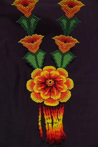 Elegante Collar Huichol Artesanal Wixarika