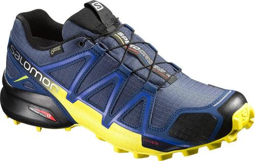 Calzado Masculina Salomon - Speedcross 4 Gtx M Azul - Trail