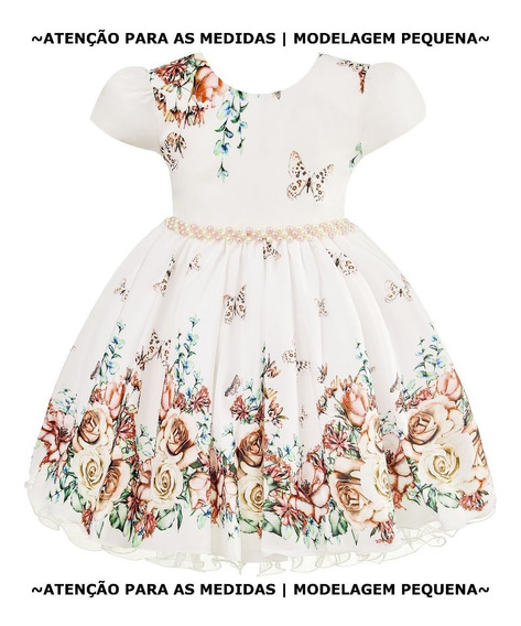 Vestido Infantil Jardim Encantando Aniversário Dama De Honra