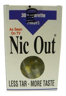 30 Filtros Nic Out Cigarrillo Nicotina Fumadores No Fumar