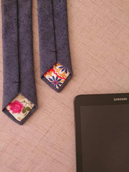 Gravata Azul Jeans