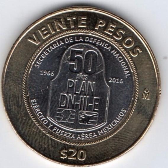 Monedas Veinte Pesos Plan Dniii Defensa Nacional Nueva 2