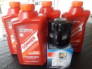 Combo Aceite 20w50 Gonher + Filtro Corsa Aveo Optra Spark