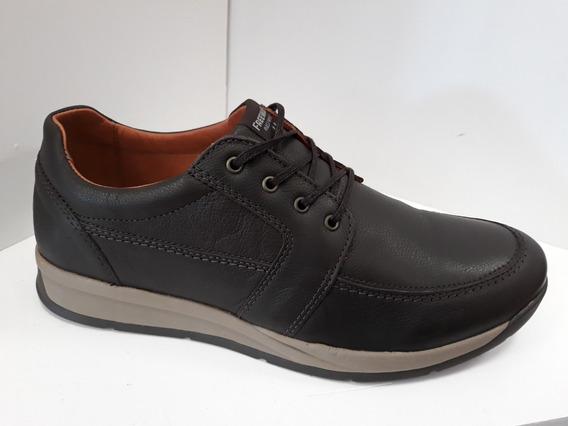 Zapato Zapatilla De Cuero Hombre Freeway Easywear