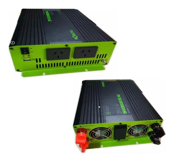 Inversor Convertidor Corriente 12v A 220v 2500w Pico 5000w