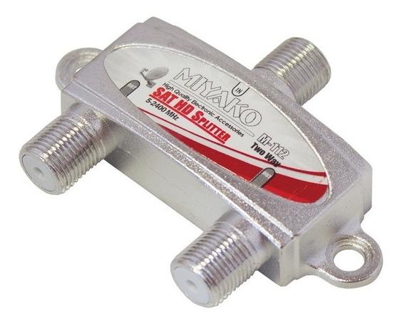 Splitter Divisor Coaxial De 2 Vías Miyako 5-2400 Mhz Calidad