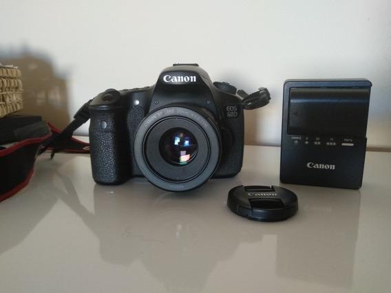 Câmera Canon Eos 60d + Lente 50mm 1.8 + Brinde - Seminova