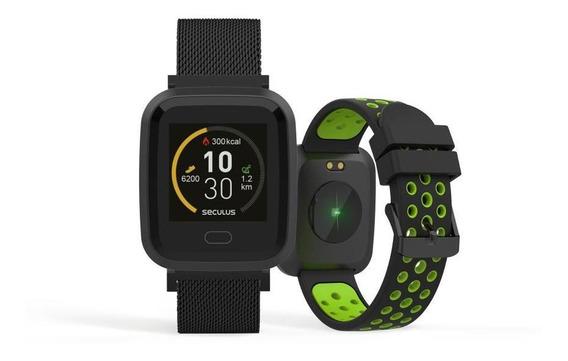 Relógio Unissex Seculus Smartwatch 79006mpsvpe2 36mm Preto