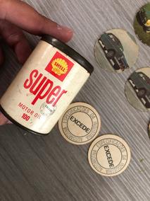 Lata Jogo Shell Excede 1970 Com 86 Peças Impecáveis Jogo Mem