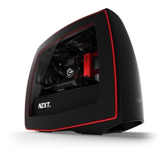 Gabinete Nzxt Manta Black - Red / Mini Itx/ Window
