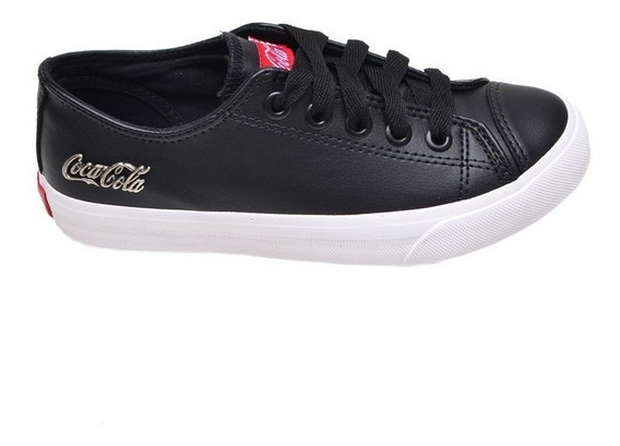 Tênis Feminino Casual Floater Low Coca Cola Preto