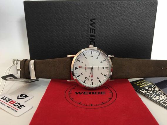 Relógio Promoção Weide Pulseira De Couro De Luxo Quartz