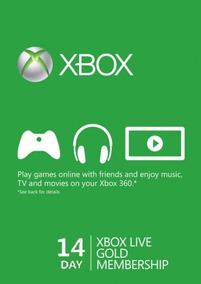 Xbox Live Gold Assinatura 14 Dias Código 25 Dígitos Digital