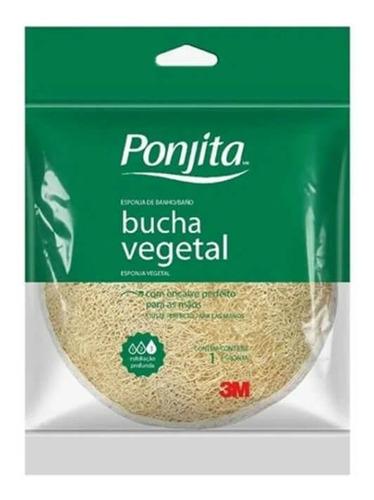 3m Ponjita Esponja P/ Banho Naturals Vegetal