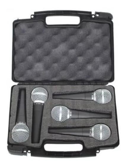 Microfone Vocal Csr Ht 58 Profissional Kit Com 5 Peças Full
