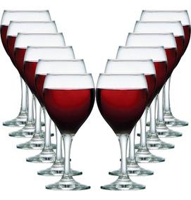 Jogo Taças Vinho Tinto Vidro Conjunto Aspen 315ml Kit 12 Peç