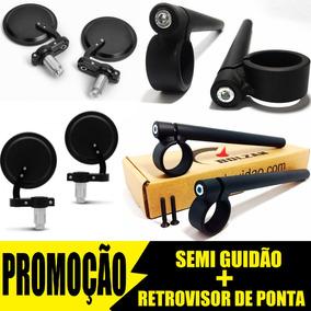 Semi Guidão Cb 400 Com Retrovisor De Ponta