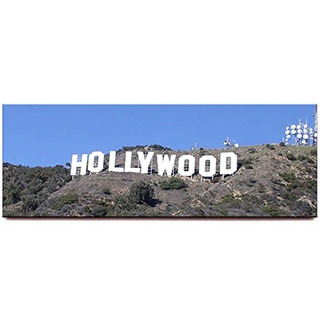 Hollywood Sign Panoramic Imán De Nevera Los Angeles Californ