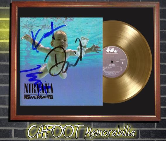 Nirvana Nevermind Tapa Firmada Lp Disco Oro