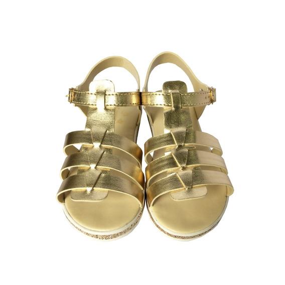 Sandália Dourada E Gliter Fivela Pimpolho 32886c