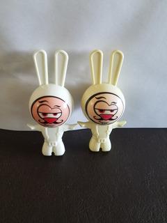 2 Muñecos Rabbids De Colección Mc Donald
