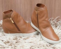 Tênis Sneaker Feminino Em Couro Orcade Ref 065537