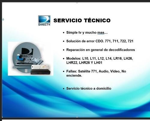 Imagen 1 de 1 de Servicio Técnico Simple Tv  Directv Y Otros