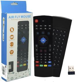 Controle Teclado Air Mouse Sem Fio Usb 2,4ghz Tv Box Tv Pc
