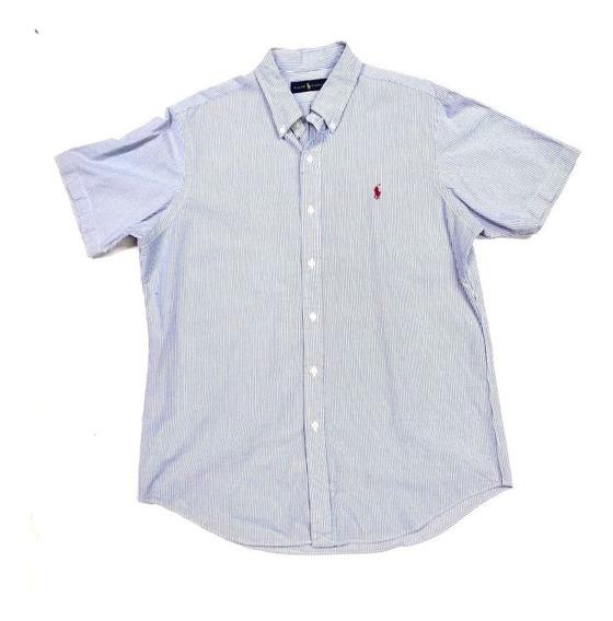 Camisa Ralph Lauren Corta Premium # L Original Custom Fit