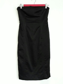 Mango Suit Vestido Negro Strapless Talla M. Envio Gratis