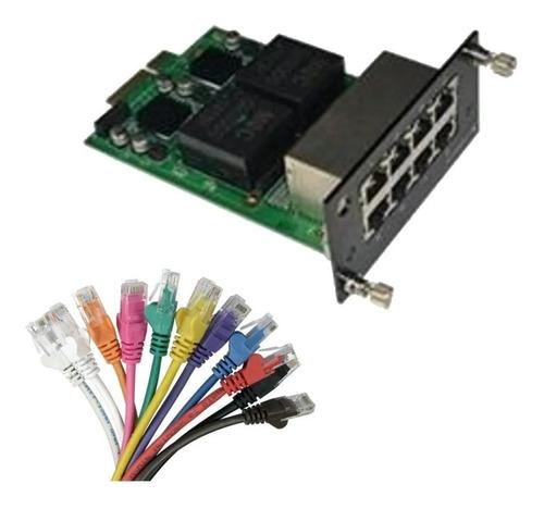 Imagen 1 de 7 de Modulo Ethernet 8 Puertos Para Switch Core Cygnus S7024-8t