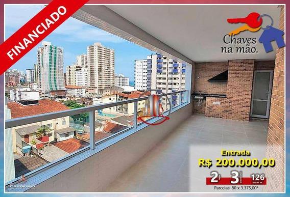 Apartamento Com 3 Dormitórios À Venda, 126 M² Por R$ 530.000,00 - Aviação - Praia Grande/sp - Ap1741