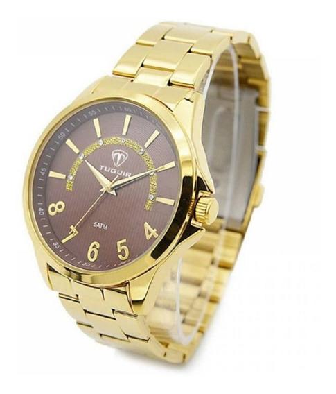 Relógio Masculino Tuguir Analógico 5021 Dourado Original