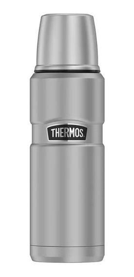 Garrafa Termica Prata De Aço Inox Thermos Makalu 470ml
