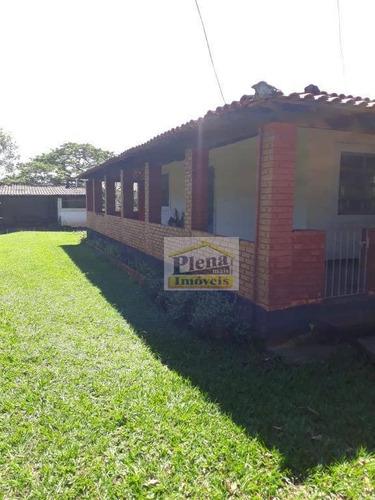 Chácara Com 3 Dormitórios À Venda, 1470 M² Por R$ 500.000 - Chácara Recreio Alvorada - Hortolândia/sp - Ch0125