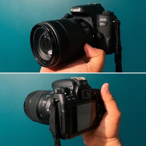 Câmera 77d Canon + Lente 18-135mm Canon