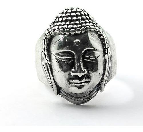 Anel Buda Em Prata - Id 4462