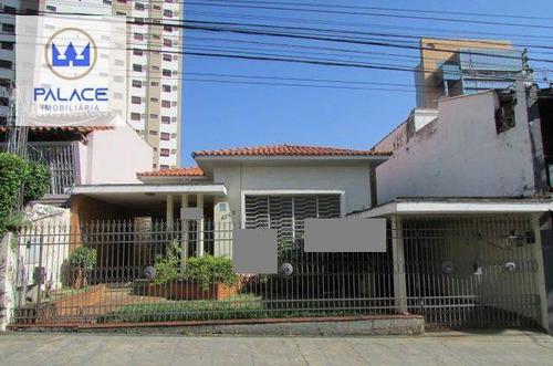 Imagem 1 de 14 de Casa Para Alugar, 326 M² Por R$ 2.800,00/mês - Centro - Piracicaba/sp - Ca0176