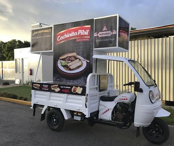 Motocarro Food Truck Publicitario