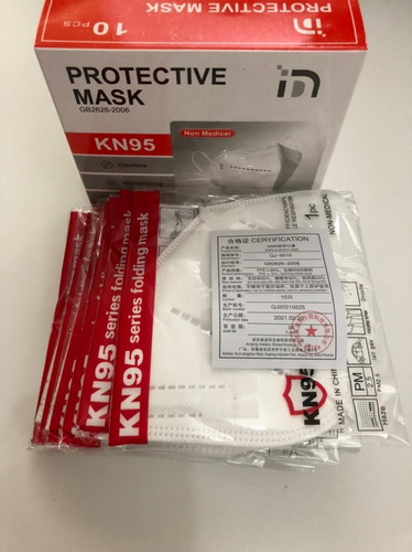 Imagen 1 de 6 de Mascarilla Kn95 Certificadas Pack 100 Unidades