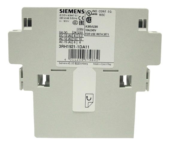 Bloque De Contactos Auxiliares Siemens 1na+1nc 3rh1921-1da11