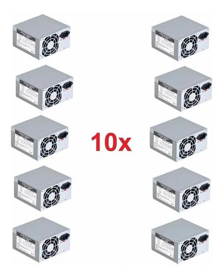 Kit 10 Fonte Atx 200w Computador Pc 20+4p Novo Nfe