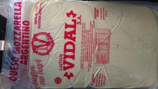 Muzzarella Vidal X 25 Kg Envasada Al Vacio Sin Tacc