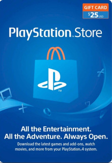 Tarjeta Psn Card $25 Playstation Prepago Ps3 Ps4 Ps Vita
