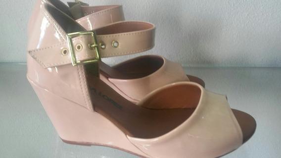 Sandália Sapato Anabela Novidade Bico Aberto
