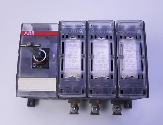 Chave Seccionadora Abb Trip 125a Nh000/00 S/manopla Os160d03