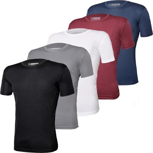 Imagem 1 de 9 de Kit 5 Camisetas Novastreet Dry Fit Anti Suor - Linha Premium
