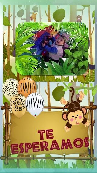 Video Invitacion Selva Jungla Safari Niños Fiesta Infantil