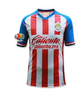 Nuevo Jersey De Chivas 2019-2020 + Parche Liga Mx